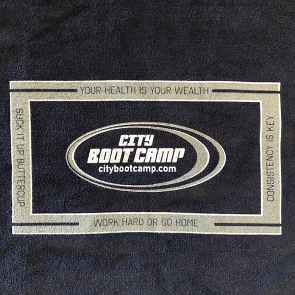 towel - navy with grey